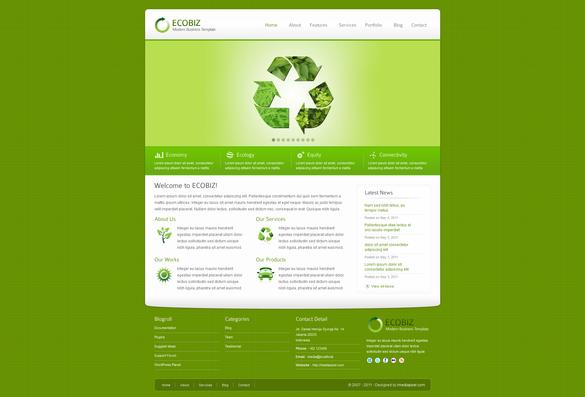 ECOBIZ - Modern Business WordPress Theme -