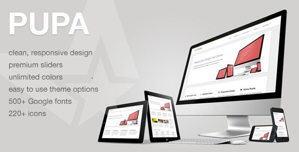ThemeForest Pupa Responsive & Retina Multi-Purpose Theme WordPress Corporate Business 3467935