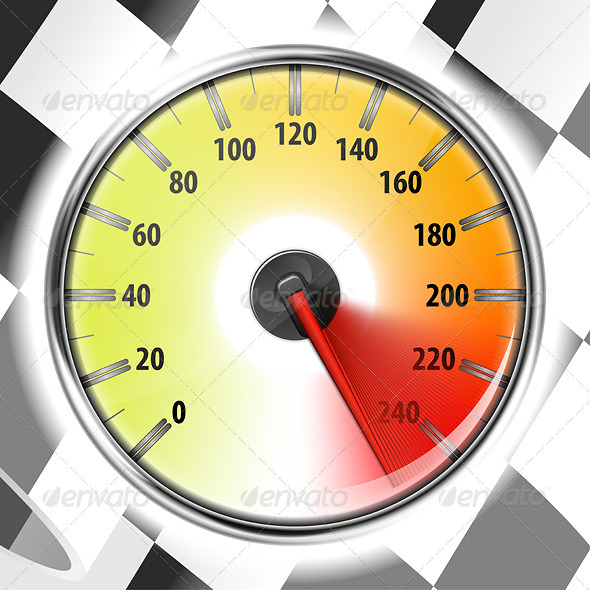 GraphicRiver Speedometer with Flag 2247222