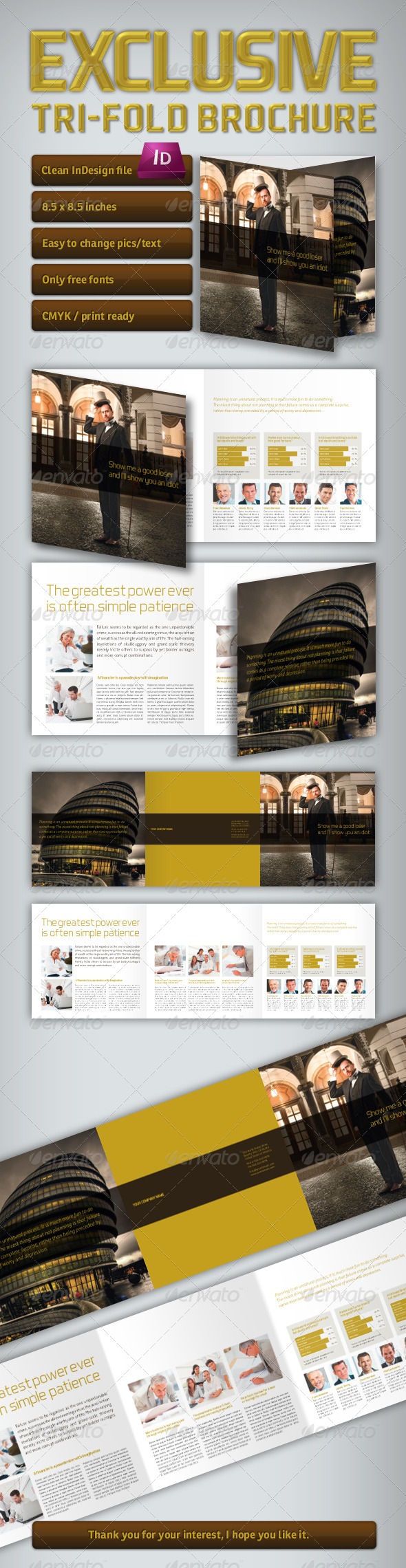 GraphicRiver Exclusive Tri-Fold Brochure 3468234