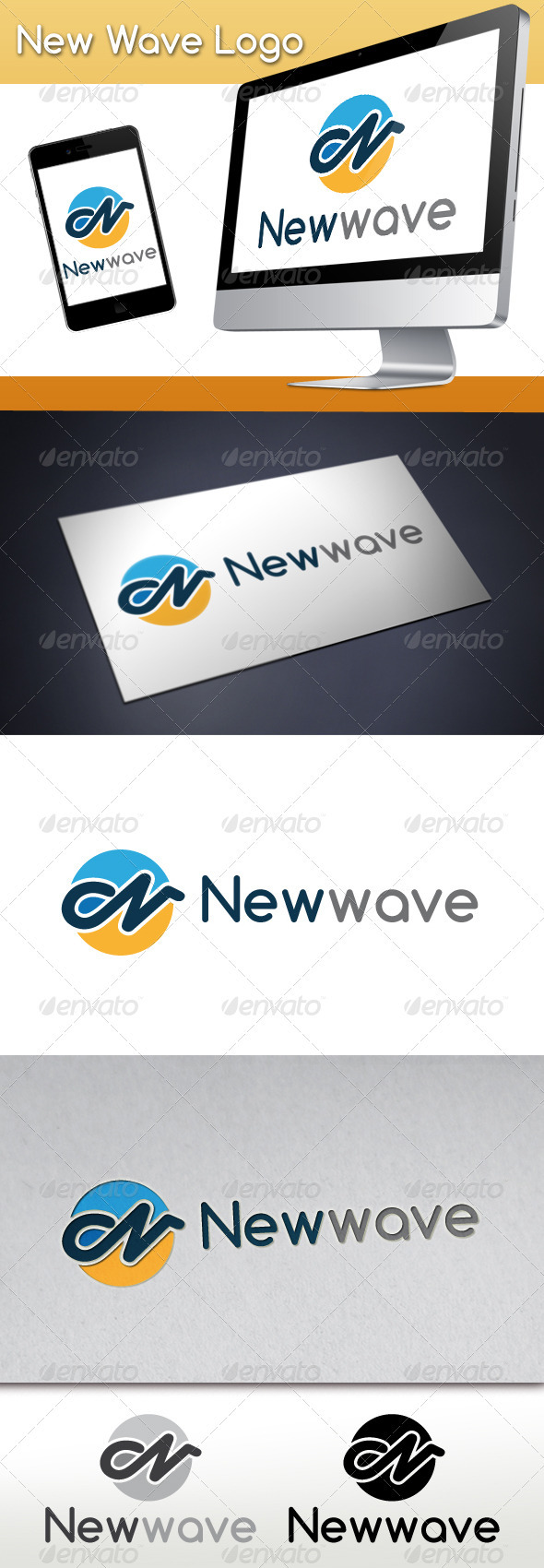 GraphicRiver New Wave Logo 3429771