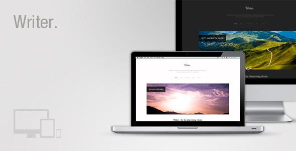 ThemeForest Writer Responsive Wordpress Theme 3468513