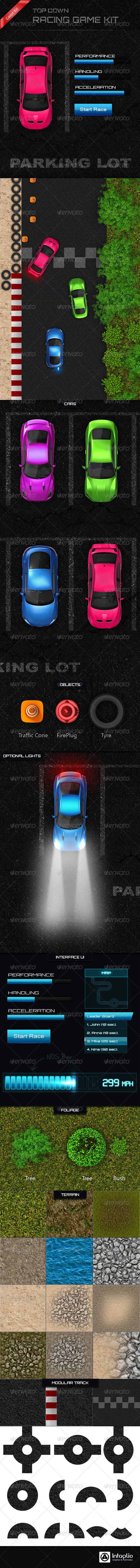 GraphicRiver Top Down Racing Game Creation Kit 3468518