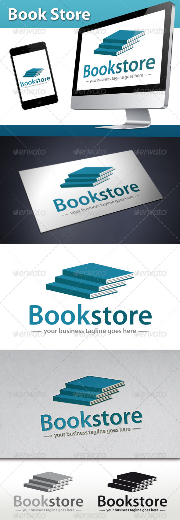 GraphicRiver Book Store Logo 3422438