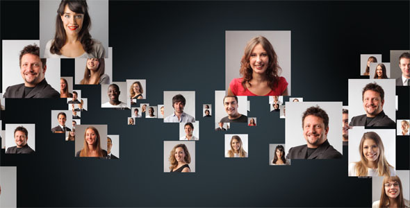 [VideoHive 3468737] Staff Photos To Logo | After Effects Project