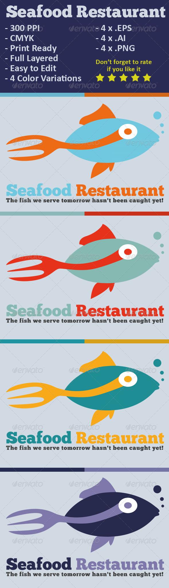 GraphicRiver Seafood Restaurant Logo 3455614