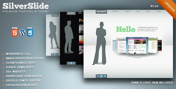 SilverSlide - premium portfolio theme - Preview image
