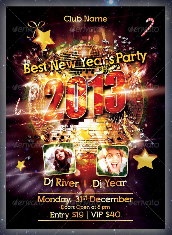 GraphicRiver New Year Party Flyer 3468925