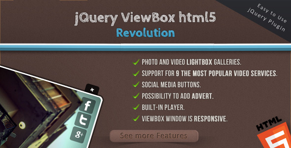 CodeCanyon jQuery ViewBox HTML5 Revolution Media Browser 3447713