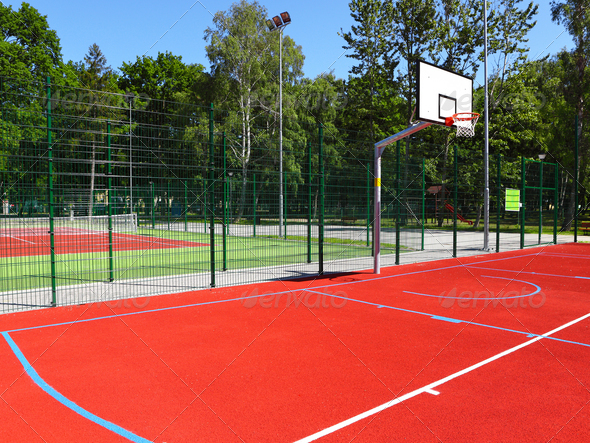 Basketball court - Stock Photo - Images