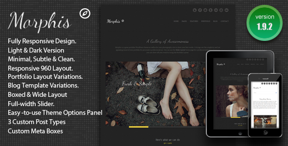 ThemeForest Morphis Responsive WordPress Theme 2429191
