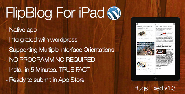 FlipBlog Ipad for Wordpress - CodeCanyon Item for Sale