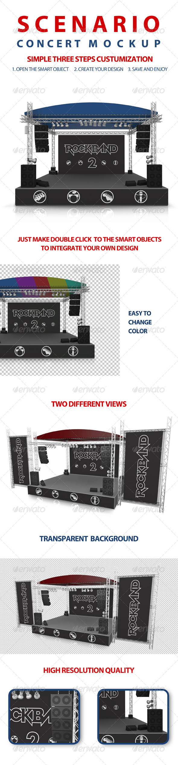 GraphicRiver Concert Scenery Mock-up 3469703