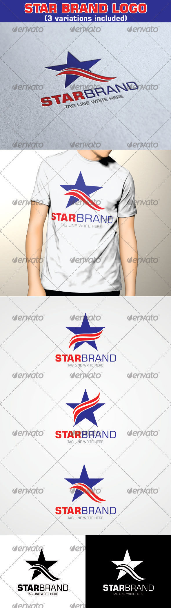 GraphicRiver Star Brand Logo with 3 variations 3469741