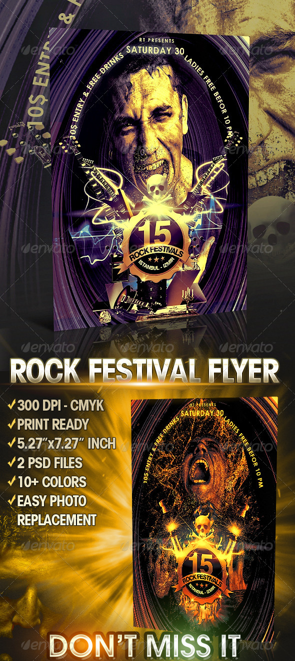 GraphicRiver Rock Festival Flyer Template 372029