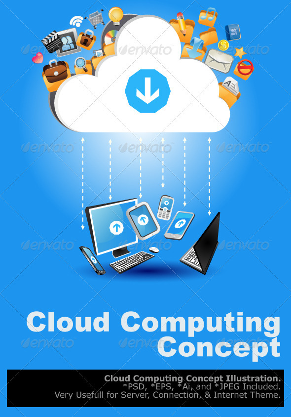 GraphicRiver Cloud Computing Concept 3469802