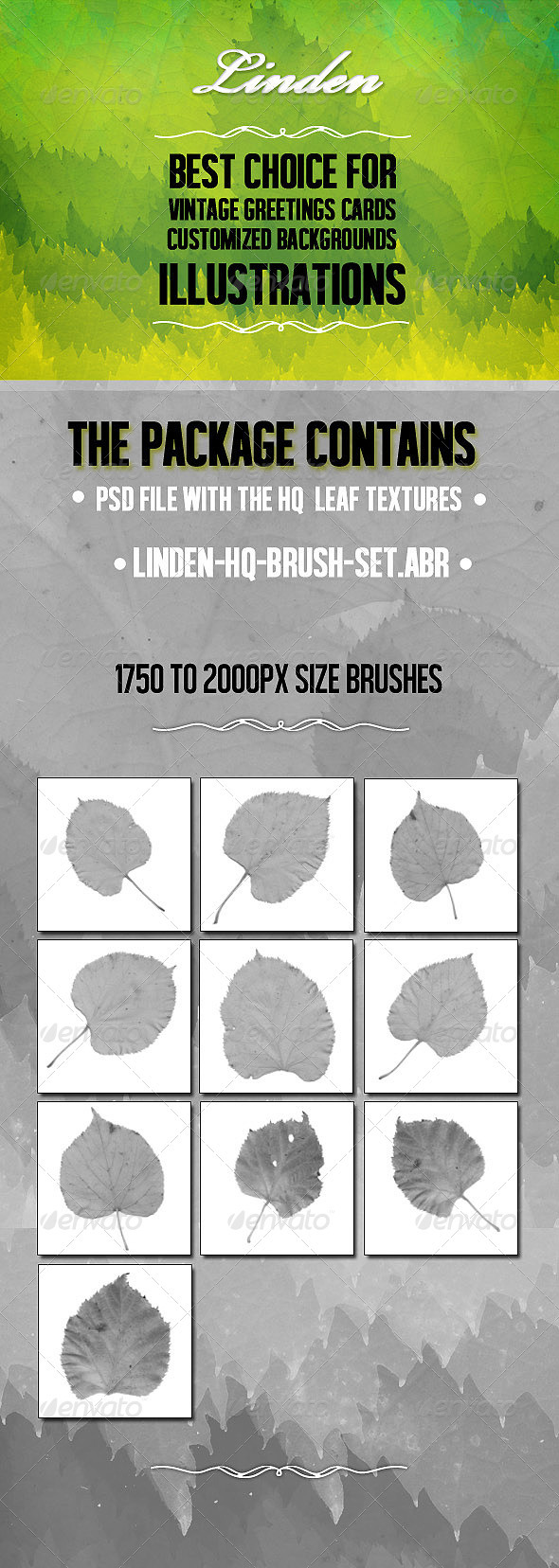 GraphicRiver Linden High Quality Brush Set 3444216
