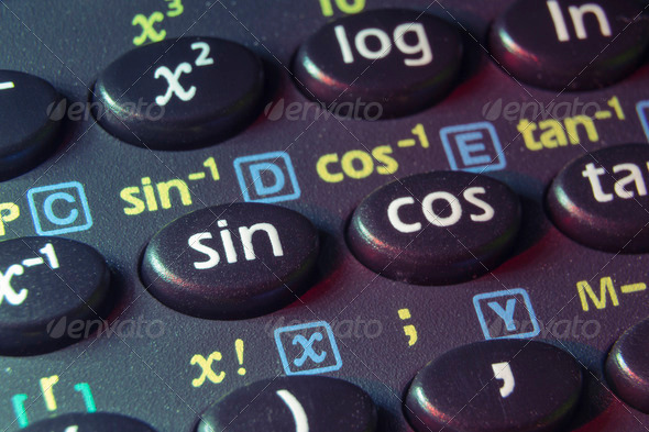 trigonometry buttons - Stock Photo - Images