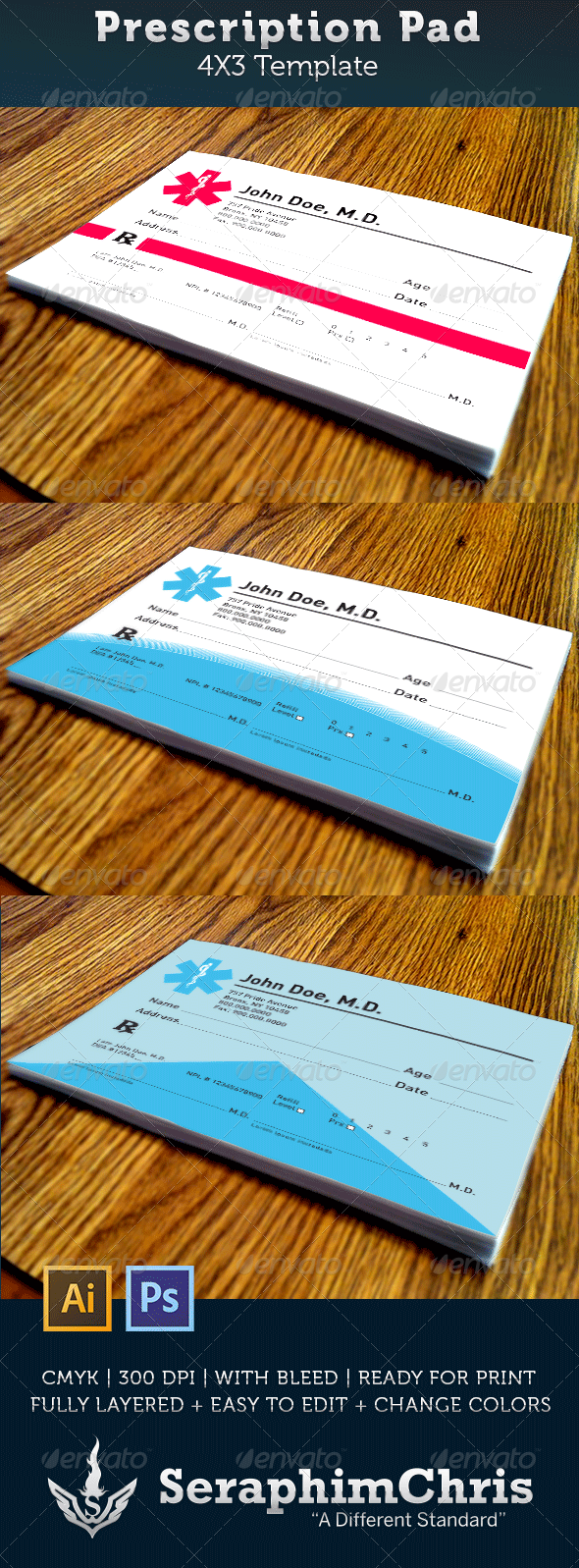 Prescription Pad Template - Miscellaneous Print Templates