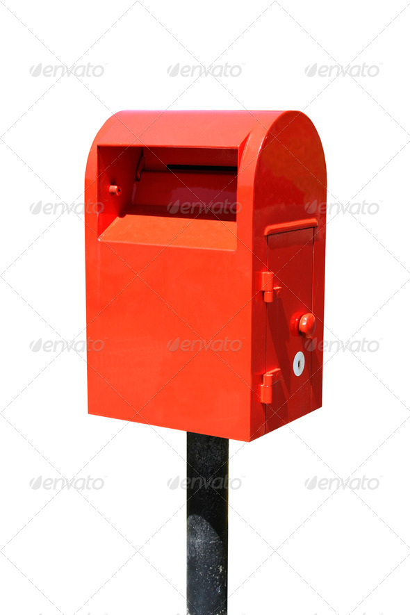 Red Mailbox - Stock Photo - Images