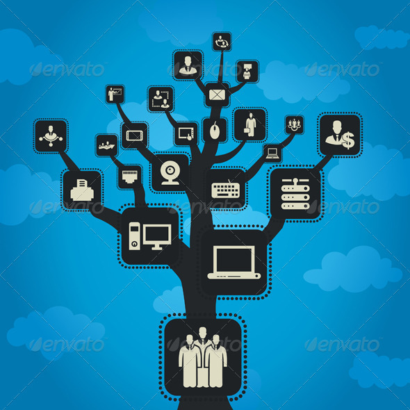 GraphicRiver Computer Tree 2 3443649