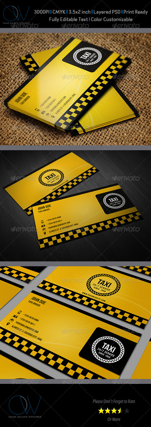 GraphicRiver Taxi Business Card 3447701