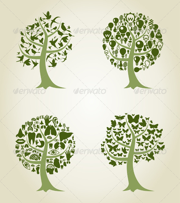 GraphicRiver Collection of Trees 5 3443648