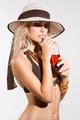summer drinking girl - PhotoDune Item for Sale