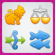 12 Positive Astrology icons - GraphicRiver Item for Sale