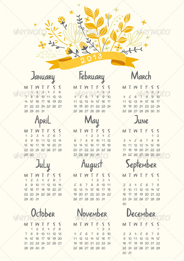 GraphicRiver Calendar 2013 3471019