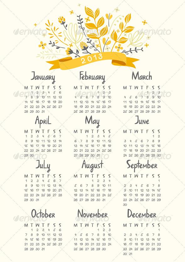 GraphicRiver Calendar 2013 3471019