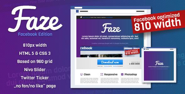 Faze - Landing Page (Facebook Edition)