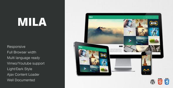 Mila - Ajax Portfolio Theme - WordPress