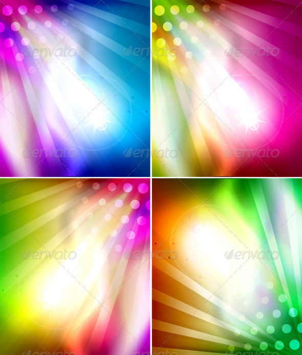 GraphicRiver Vector Vertical Rays Backgrounds 3471286
