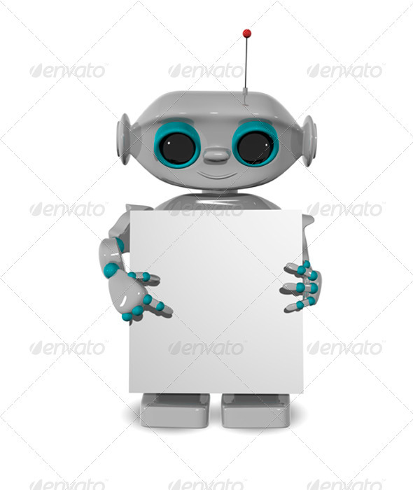 GraphicRiver Robot with a Poster 3471765