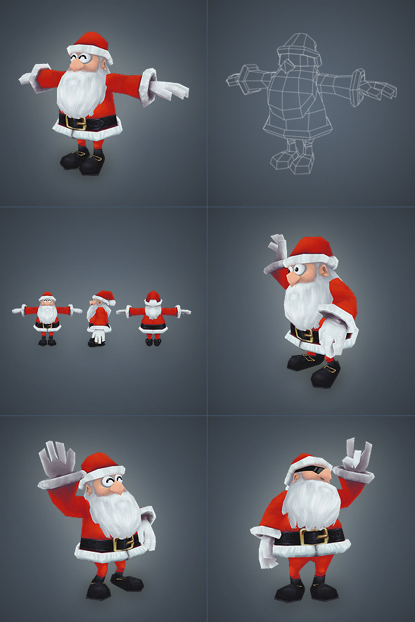 3DOcean Santa Low Poly 3472083