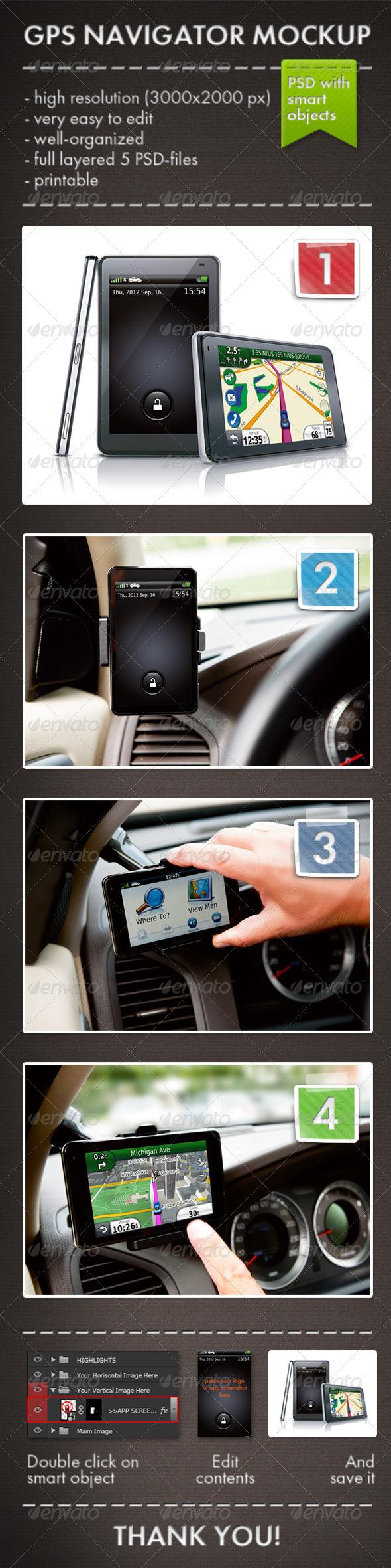 GraphicRiver GPS Navigator Mockup 3472223