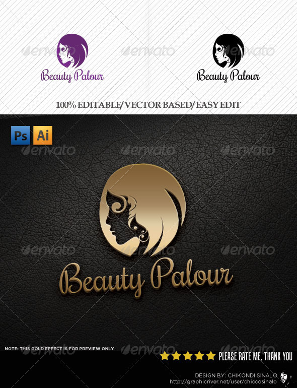 Beauty Palour Logo Template - Abstract Logo Templates