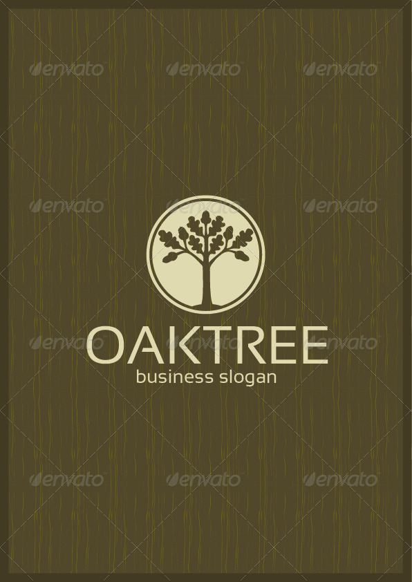 Oak Tree Wooden Business Identity
