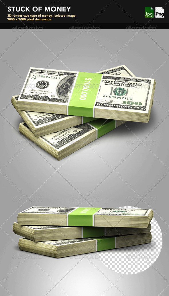 GraphicRiver Stuck of Money 3473055