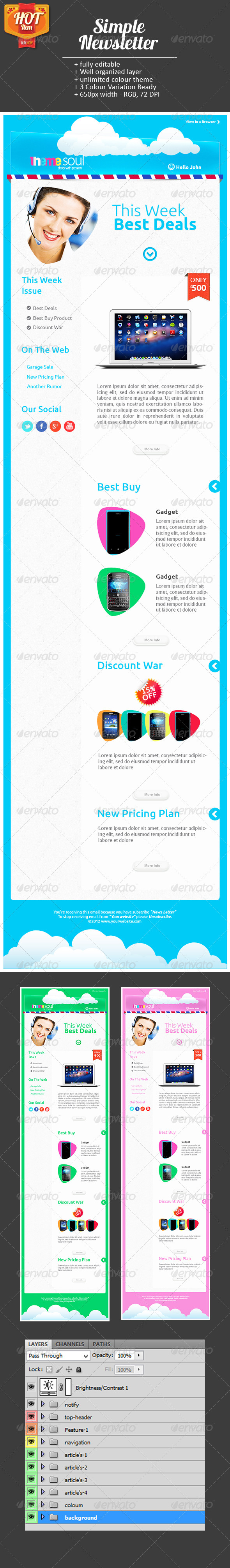 GraphicRiver Simple E-Newsletter 3473061