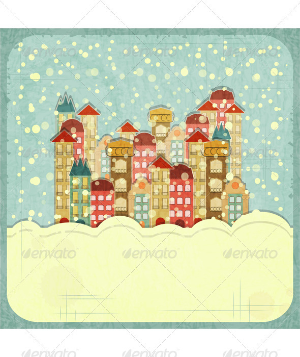 GraphicRiver Small Town and Snow 3473209