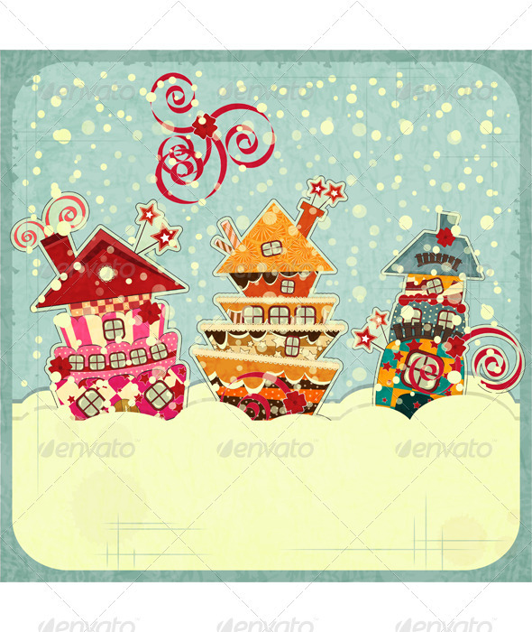 GraphicRiver Christmas Houses and Snow 3473295