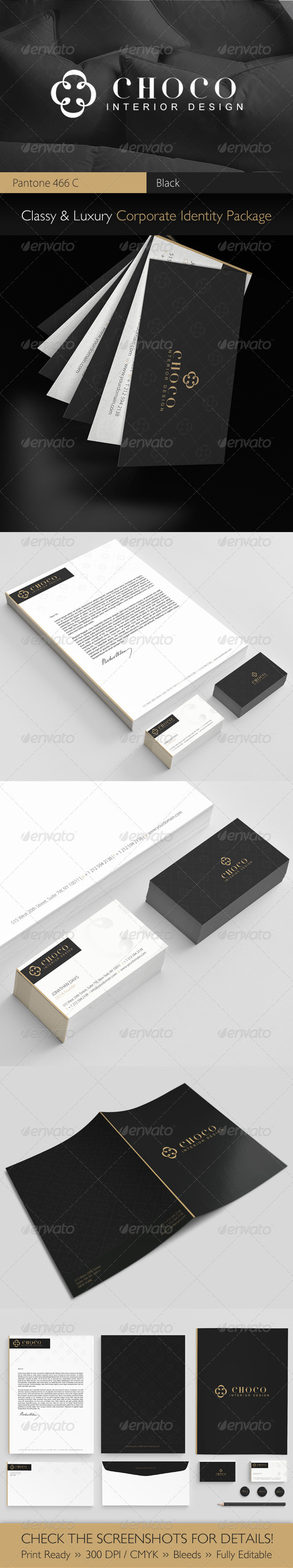 GraphicRiver Choco Luxury Corporate Identity Package 3448668