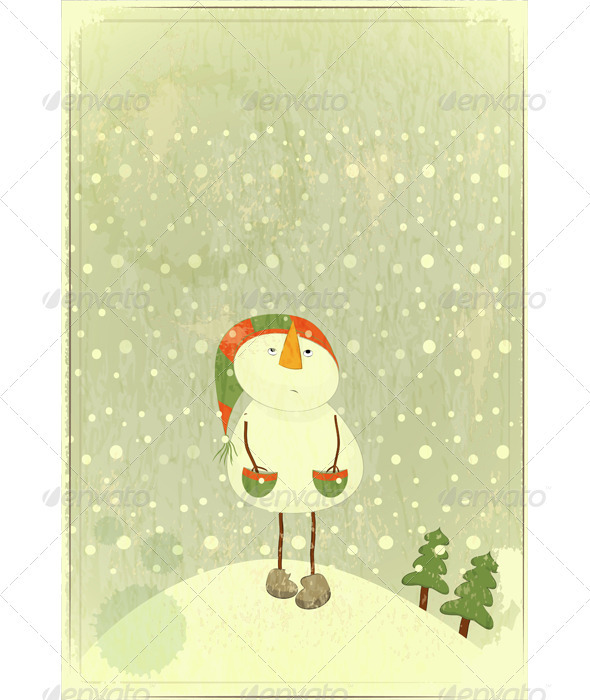 GraphicRiver Snowman 3473333