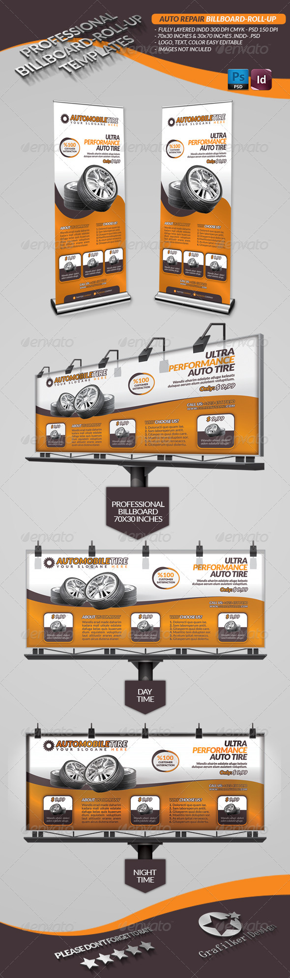 GraphicRiver Automobile Repair Billboard 3400319