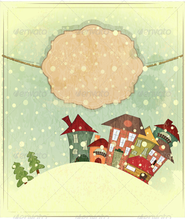 GraphicRiver Small Houses and Snow 3473432