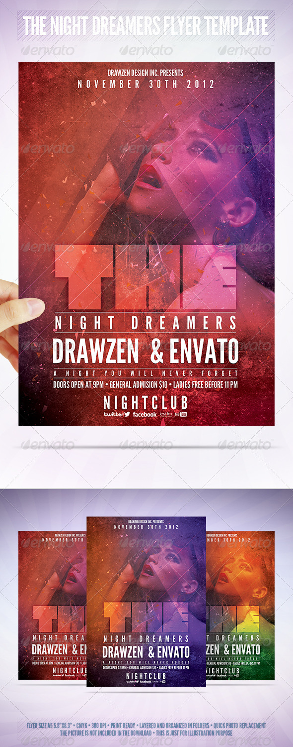 GraphicRiver The Night Dreamers Flyer Template 3473452