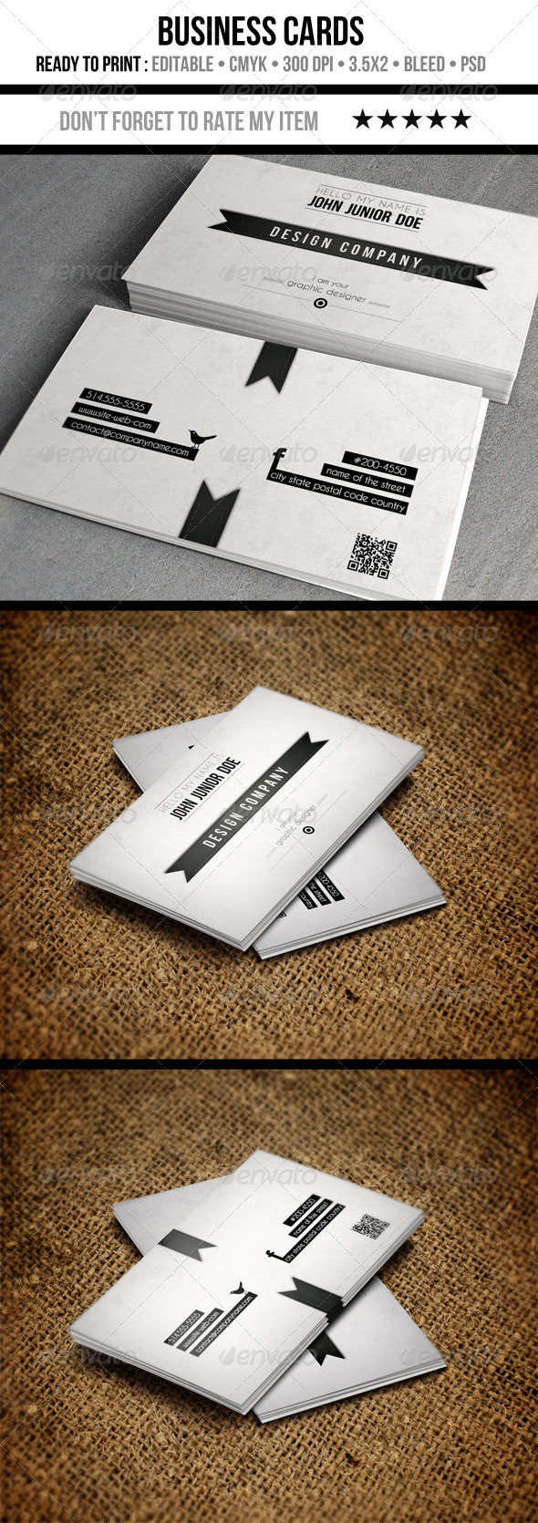 GraphicRiver Retro Businness Cards 3446682