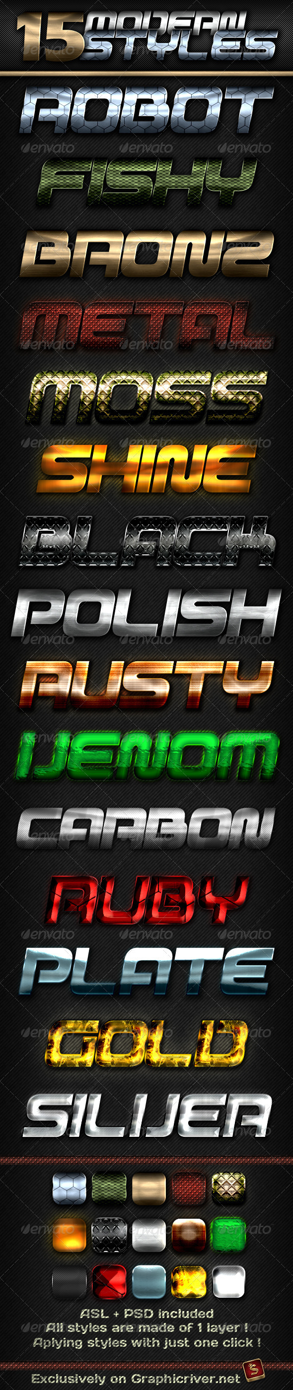 15 Modern Styles - Text Effects Styles